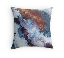 Colours of the Reef - Abstract Acrylic Painting Throw Pillow