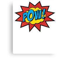 Pop Art Comics Pow! Canvas Print