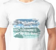 God is my strength Unisex T-Shirt