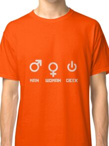 Woman Man Geek Classic T-Shirt