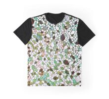 Adamski Leaf Mosaic Stained Glass Graphic T-Shirt