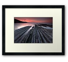 Flysch in Zumaia´s beach Framed Print