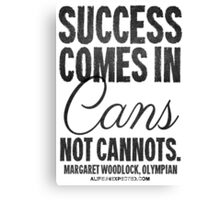 Canned Success Black Text T-shirts & Homewares Canvas Print