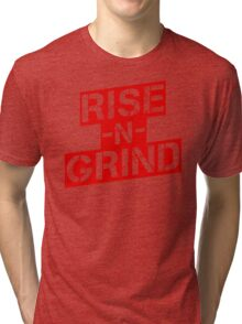 Rise n Grind - Red Tri-blend T-Shirt