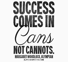 Canned Success Black Text T-shirts & Homewares Womens Fitted T-Shirt