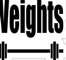 Sex, Weights, Protein Shakes Sticker