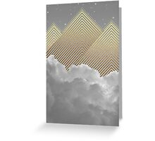 Silence is the Golden Mountain Greeting Card