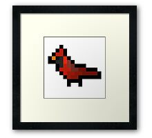 8-Bit Retro Cardinal Framed Print