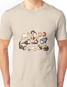 cat snakes in blue Unisex T-Shirt