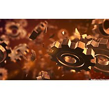 Copper Gears Photographic Print