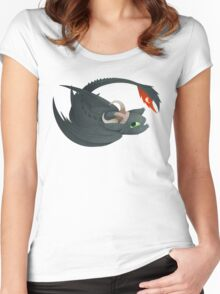 night fury Women's Fitted Scoop T-Shirt