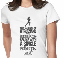 Thousand Miles Black Text Quote T-shirts & Homewares Womens Fitted T-Shirt