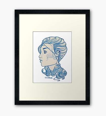 Marine Maiden Framed Print