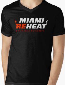 Miami Reheat Red Mens V-Neck T-Shirt