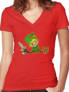 Zelda Mimikyu Women's Fitted V-Neck T-Shirt