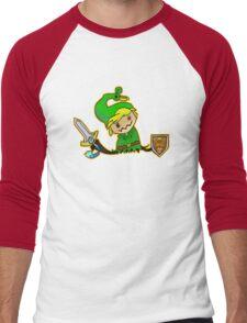 Zelda Mimikyu Men's Baseball ¾ T-Shirt