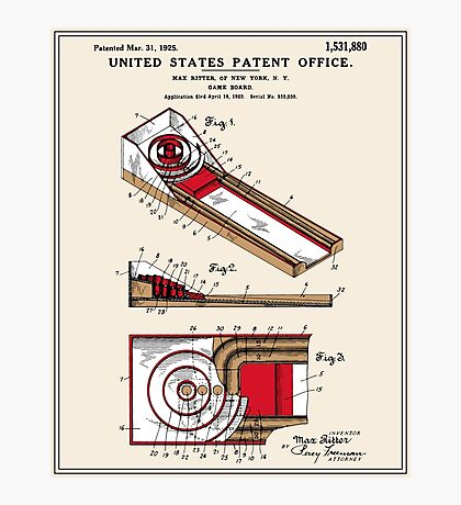Skee Ball Patent - Colour Photographic Print
