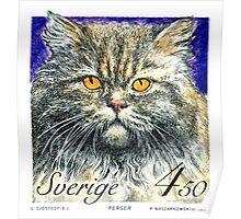 1994 Sweden Persian Cat Postage Stamp Poster