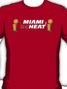 Miami Reheat Trophies on Red T-Shirt