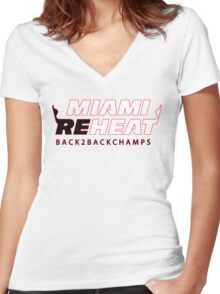 Miami Reheat Women's Fitted V-Neck T-Shirt
