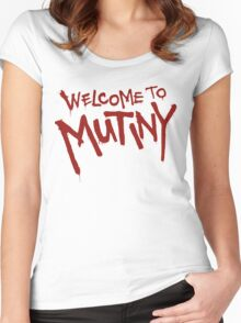 Welcome To Mutiny Women's Fitted Scoop T-Shirt