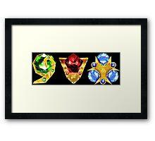 The 3 Spiritual Stones Ocarina of Time Framed Print