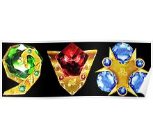 The 3 Spiritual Stones Ocarina of Time Poster