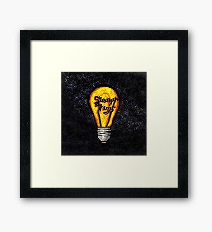 Stranger Things- Light Bulb Framed Print