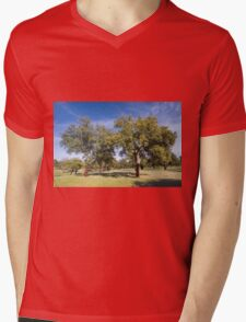 Cork oak, Monfrague Mens V-Neck T-Shirt