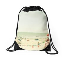 One Summer Day at the Beach Drawstring Bag