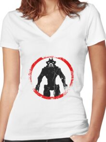 District 9 (Vintage sign) Women's Fitted V-Neck T-Shirt