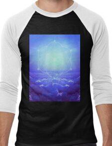All but the Brightest Star (Sirius Star Geometric) Men's Baseball ¾ T-Shirt