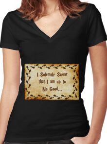 I Solemnly Swear Women's Fitted V-Neck T-Shirt