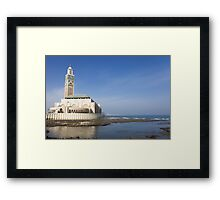 Hassan II Mosque Framed Print