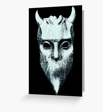 NAMELESS GHOUL - marble oil paint Greeting Card