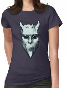 NAMELESS GHOUL - marble oil paint Womens Fitted T-Shirt