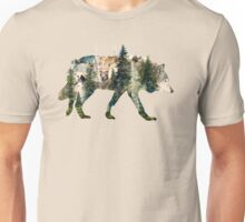 Wolf Pride Surrealism Nature Art Unisex T-Shirt