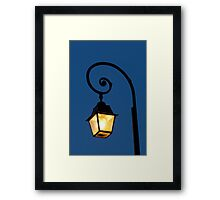 Streetlamp in Fontainebleau Framed Print
