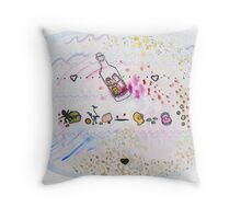 underwater love treasures Throw Pillow