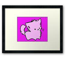 Pink Kawaii Kitty Framed Print
