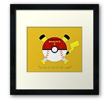 The Pallet Town Pikachu's Framed Print
