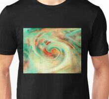 Green orange yellow colors watercolor effect brushstrokes texture illustration Unisex T-Shirt