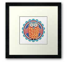Colorful Tribal Owl Framed Print