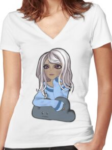 Daydreamer Fiona Women's Fitted V-Neck T-Shirt