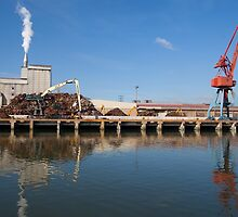 Industry in the river of Nervion, Bilbao by PhotoBilbo
