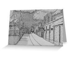 255 - GUTTER HILL SEEN FROM JOHNSTOWN - DAVE EDWARDS - INK - 2014 Greeting Card