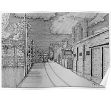 255 - GUTTER HILL SEEN FROM JOHNSTOWN - DAVE EDWARDS - INK - 2014 Poster