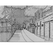 255 - GUTTER HILL SEEN FROM JOHNSTOWN - DAVE EDWARDS - INK - 2014 Photographic Print