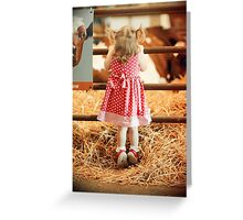 Cow Licks and Pig Tails Greeting Card