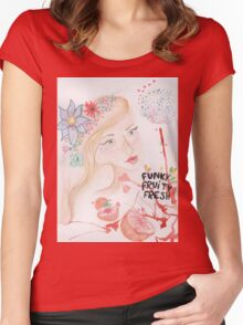 funky fruity fresh Women's Fitted Scoop T-Shirt